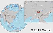 Gray Location Map of Diaoyu