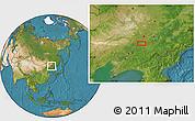 Satellite Location Map of Diaoyu
