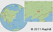 Savanna Style Location Map of Diaoyu