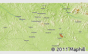"""Physical 3D Map of the area around 43°1'43""""N,125°52'30""""E"""