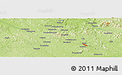 "Physical Panoramic Map of the area around 43° 1' 43"" N, 125° 52' 30"" E"