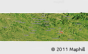 "Satellite Panoramic Map of the area around 43° 1' 43"" N, 125° 52' 30"" E"