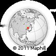 Outline Map of Huadian, rectangular outline