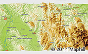 """Physical 3D Map of the area around 43°1'43""""N,12°49'29""""E"""