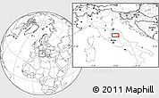"""Blank Location Map of the area around 43°1'43""""N,12°49'29""""E"""