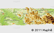 Physical Panoramic Map of Cisterna