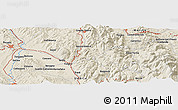 Shaded Relief Panoramic Map of Cisterna