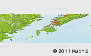 Physical Panoramic Map of Vladivostok