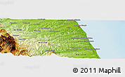 Physical Panoramic Map of Tolentino