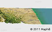 Satellite Panoramic Map of Tolentino
