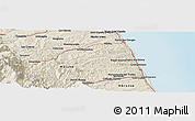 Shaded Relief Panoramic Map of Tolentino