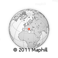 Outline Map of Hvar, rectangular outline