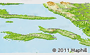 Physical 3D Map of Lumbarda