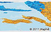 Political 3D Map of Lumbarda