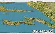 Satellite 3D Map of Lumbarda