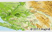 Physical 3D Map of Ljubuški