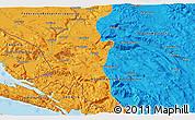 Political 3D Map of Ljubuški