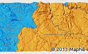 Political 3D Map of Bileća