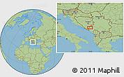 Savanna Style Location Map of Stolac