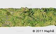 Satellite Panoramic Map of Donje Brestice