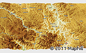 """Physical 3D Map of the area around 43°1'43""""N,19°37'30""""E"""