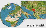 """Satellite Location Map of the area around 43°1'43""""N,19°37'30""""E"""
