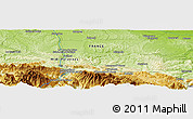 Physical Panoramic Map of Foix