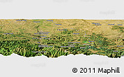 Satellite Panoramic Map of Tarascon-sur-Ariège