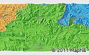 Political 3D Map of Oroz-Betelu