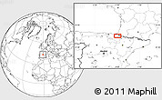 """Blank Location Map of the area around 43°1'43""""N,1°37'30""""W"""