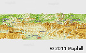Physical Panoramic Map of Areso