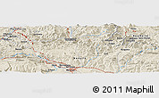 Shaded Relief Panoramic Map of Elgorriaga