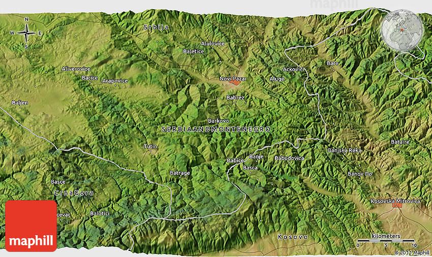 Satellite 3d Map Of Novi Pazar