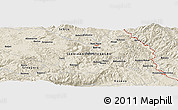 Shaded Relief Panoramic Map of Babrež