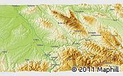 Physical 3D Map of Glavanovtsi
