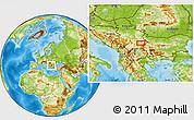 Physical Location Map of Glavanovtsi