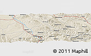 Shaded Relief Panoramic Map of Pirot