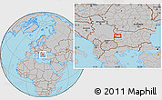 Gray Location Map of Bov