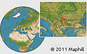 """Satellite Location Map of the area around 43°1'43""""N,23°1'29""""E"""