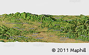 Satellite Panoramic Map of Bachiishte