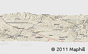 Shaded Relief Panoramic Map of Chibaovtsi