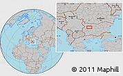Gray Location Map of Bozhenitsa