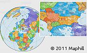 Political Location Map of Bozhenitsa