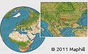 Satellite Location Map of Bozhenitsa
