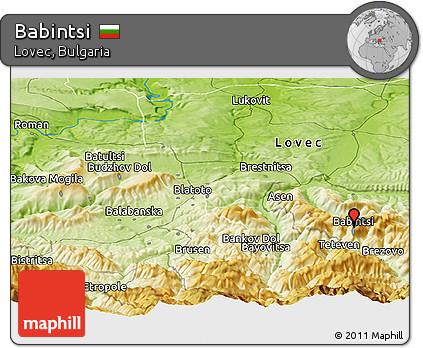Physical Panoramic Map of Babintsi