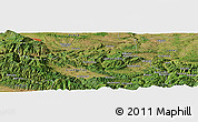 Satellite Panoramic Map of Dermantsi