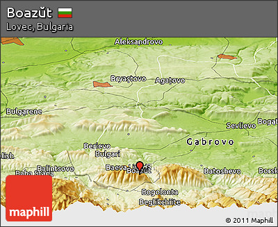 Physical Panoramic Map of Boazŭt
