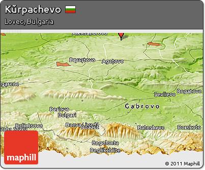 Physical Panoramic Map of Kŭrpachevo