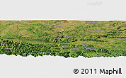 Satellite Panoramic Map of Gabŭrska