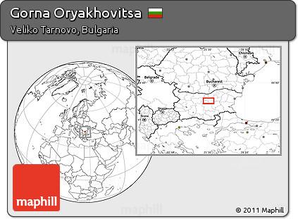 Bucharest airport transfer to GORNA ORYAHOVITSA, Map of Gorna Oryakhovitsa